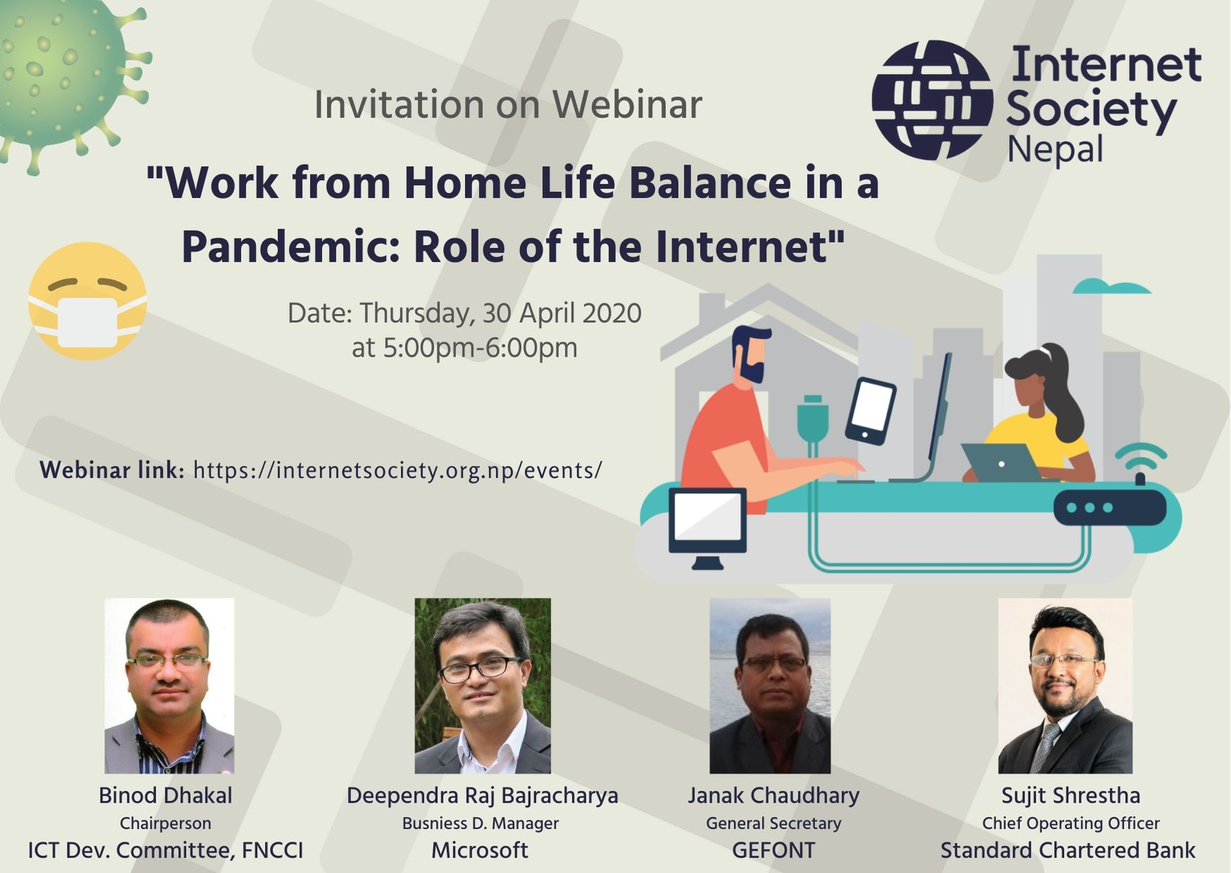 Work Form Home Life Balance in a Pandemic: Role of the Internet