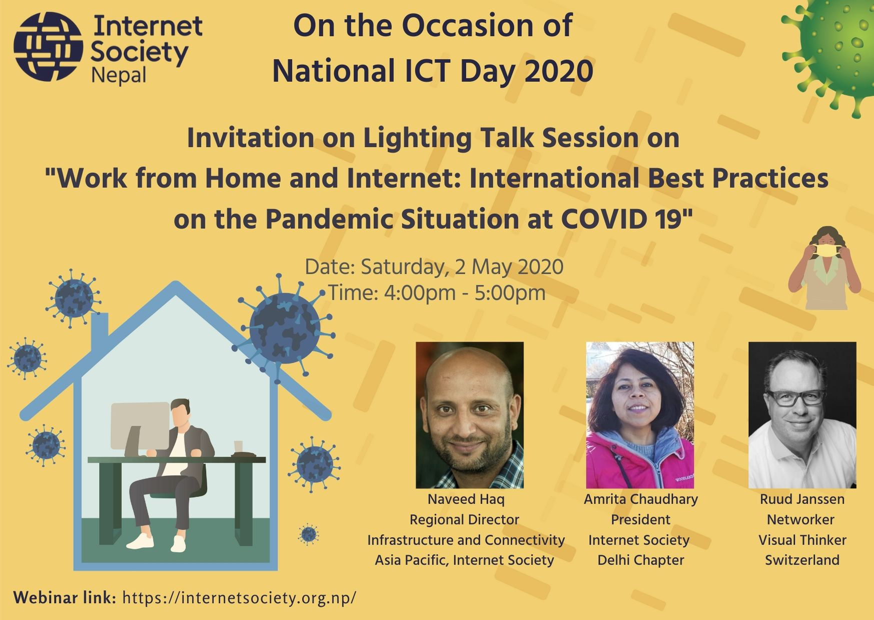 "Lighting Talk Session on  ""Work from Home and Internet: International Best Practices on the Pandemic Situation at COVID 19"""